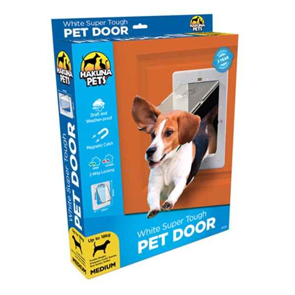 Medium Timber Door & Wall Fitting Dog Door